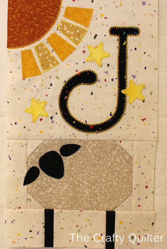 J Block from A-Z for Ewe and Me BOM, made by Julie Cefalu