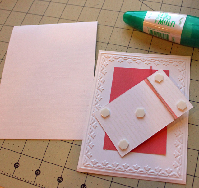 How to dry emboss cardstock @ The Crafty Quilter.  Botanical card made by Julie Cefalu
