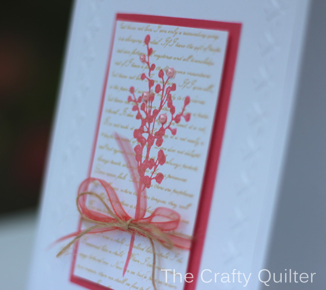 How to dry emboss cardstock.  Botanical Card made by Julie Cefalu
