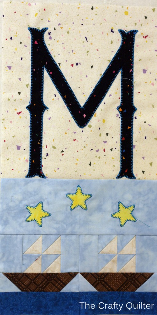 Letter M, TQS 2014 BOM @ The Crafty Quilter