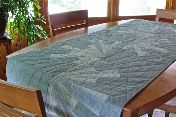 Modern Dresden Table Runner by Nancy Zieman