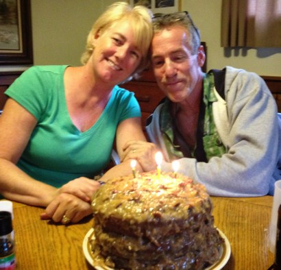 me dad and cake