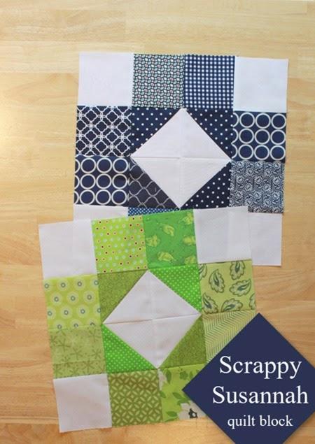 Scrappy Susannah Quilt Block tutorial 1a_thumb[3]