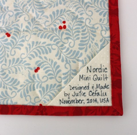 Nordic Mini  Quilt Label @ The Crafty Quilter