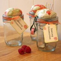 Mason Jar Sewing Kit or Sewing Preserves
