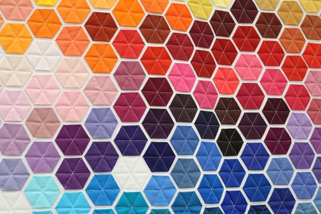 geometric rainbow detail