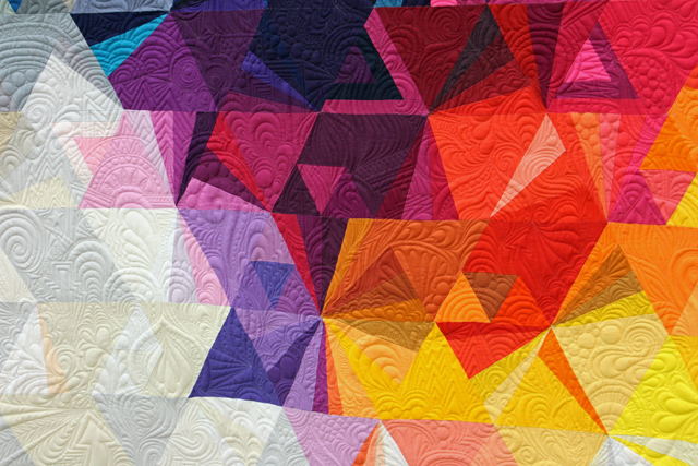 """Quilting detail of """"Tessellation 3"""" by Nydia Kehnle"""