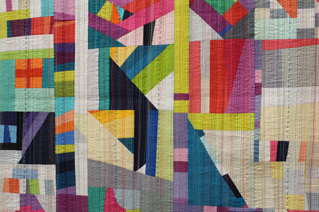 """Quilting detail of """"The Rabbit Hole"""" by Nydia Kehnle"""