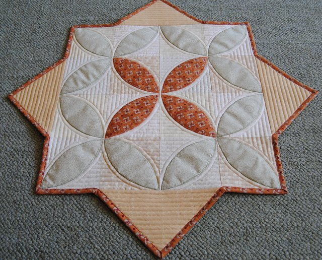 Winter Seeds Table Topper by Carolyn @ Carolyn's Quilts