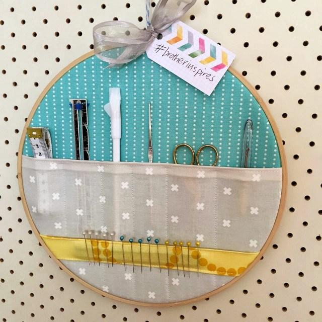 embroidery hoop peg board