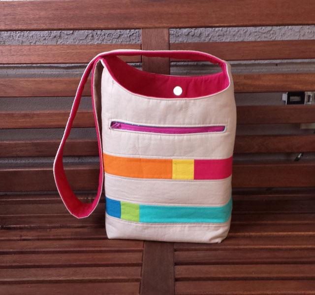 Color Block Bucket Bag by Jennifer Wiatrowski