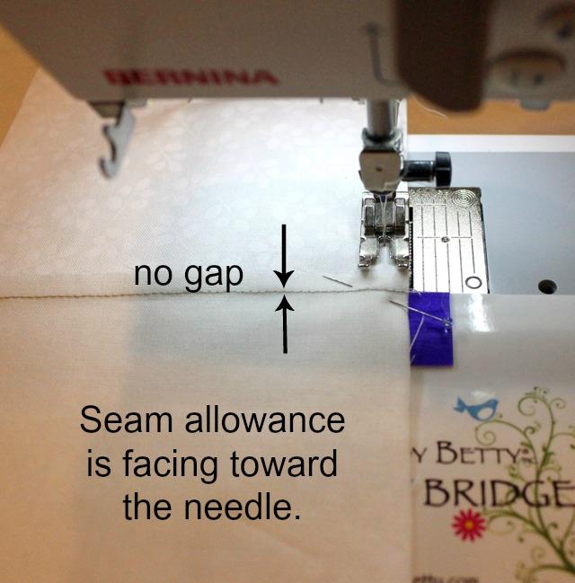 seams towards needle words