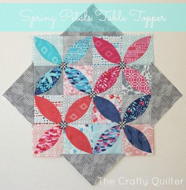 spring petals table topper