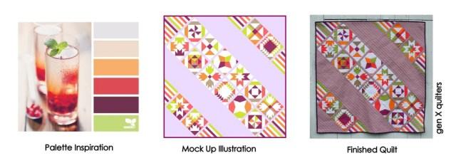 Color Palette Mosaic @ Gen X Quilters
