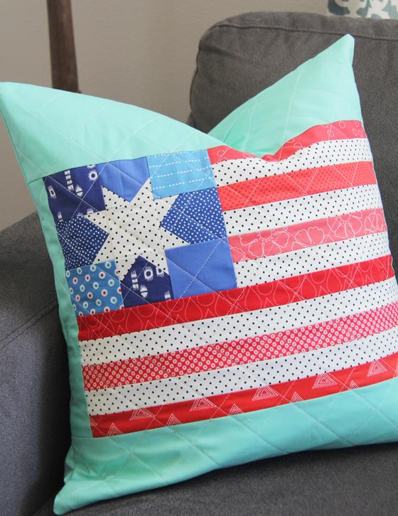 Flag pillow and block tutorial