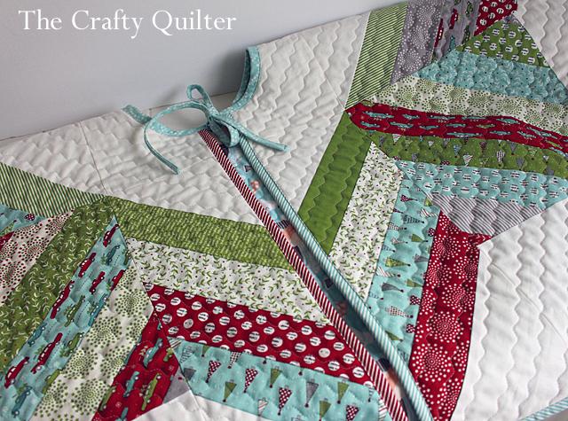 Joyful Jelly Roll Tree Skirt made by Julie Cefalu for Fat Quarter Shop