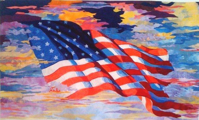 Flag Quilt by melinda bula