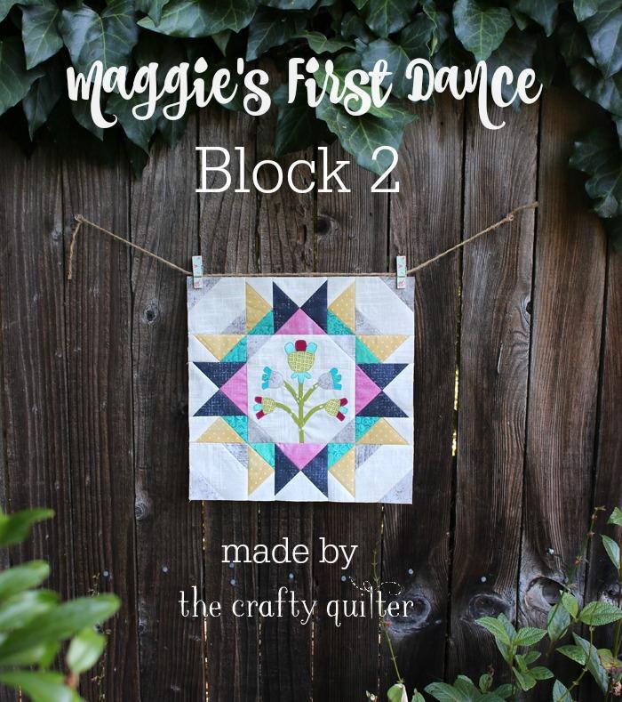 Maggie's First Dance, block 2 by Julie Cefalu