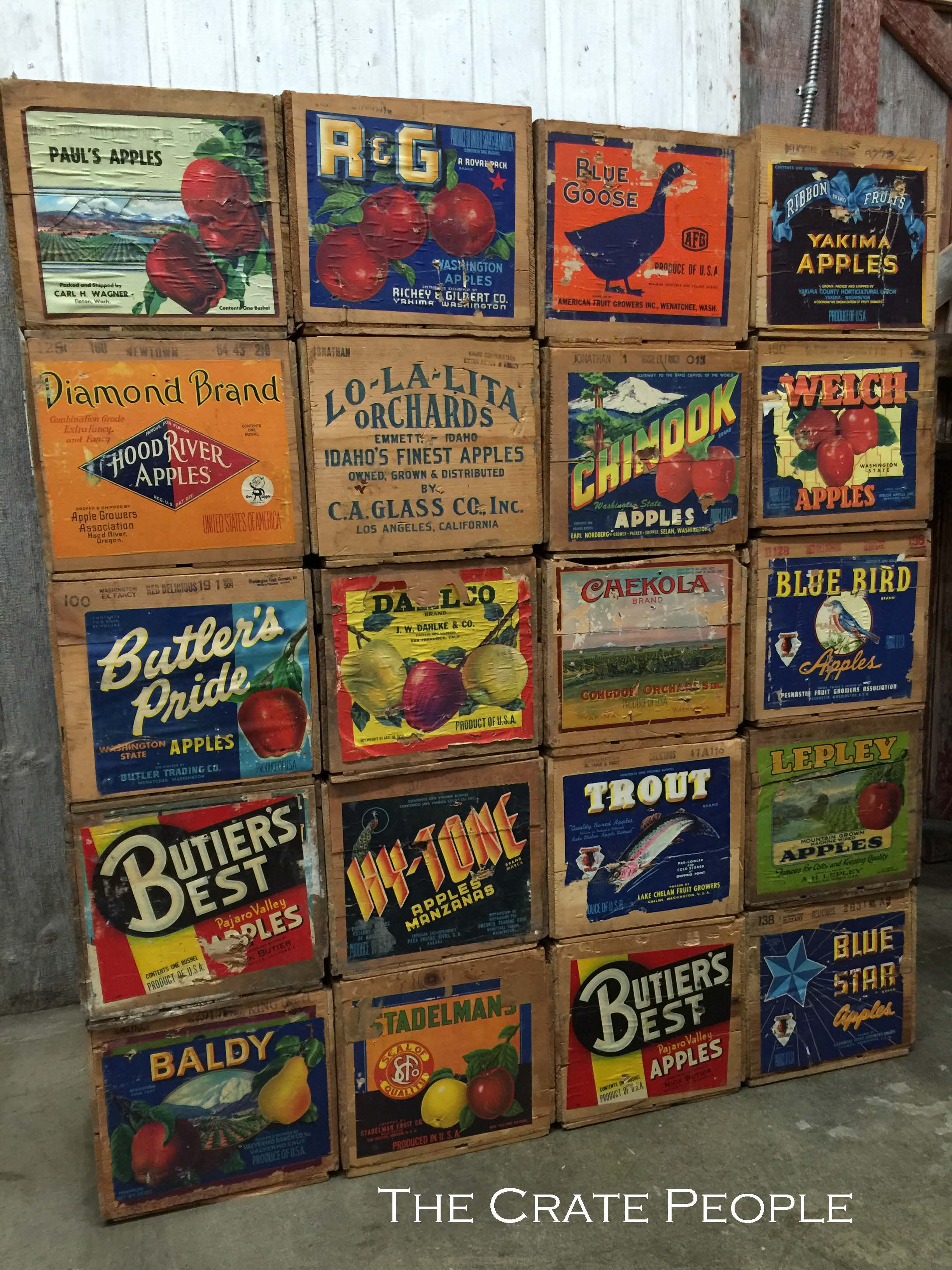 Fruit Bins For Sale Vintage Apple Crates The Crate People