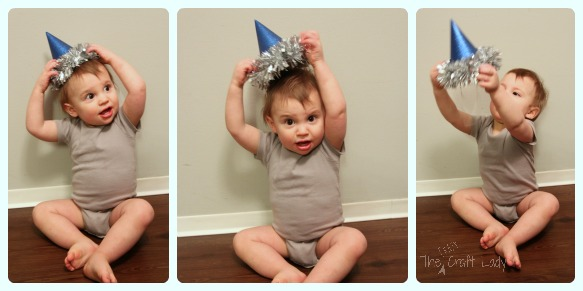 Baby Party Hats and FREE Printable Template - The Crazy Craft Lady