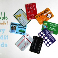 Printable (and Customizable) Play Credit Cards