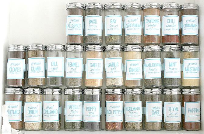 DIY Spice Jar Labels (using Picmonkey) - The Crazy Craft Lady