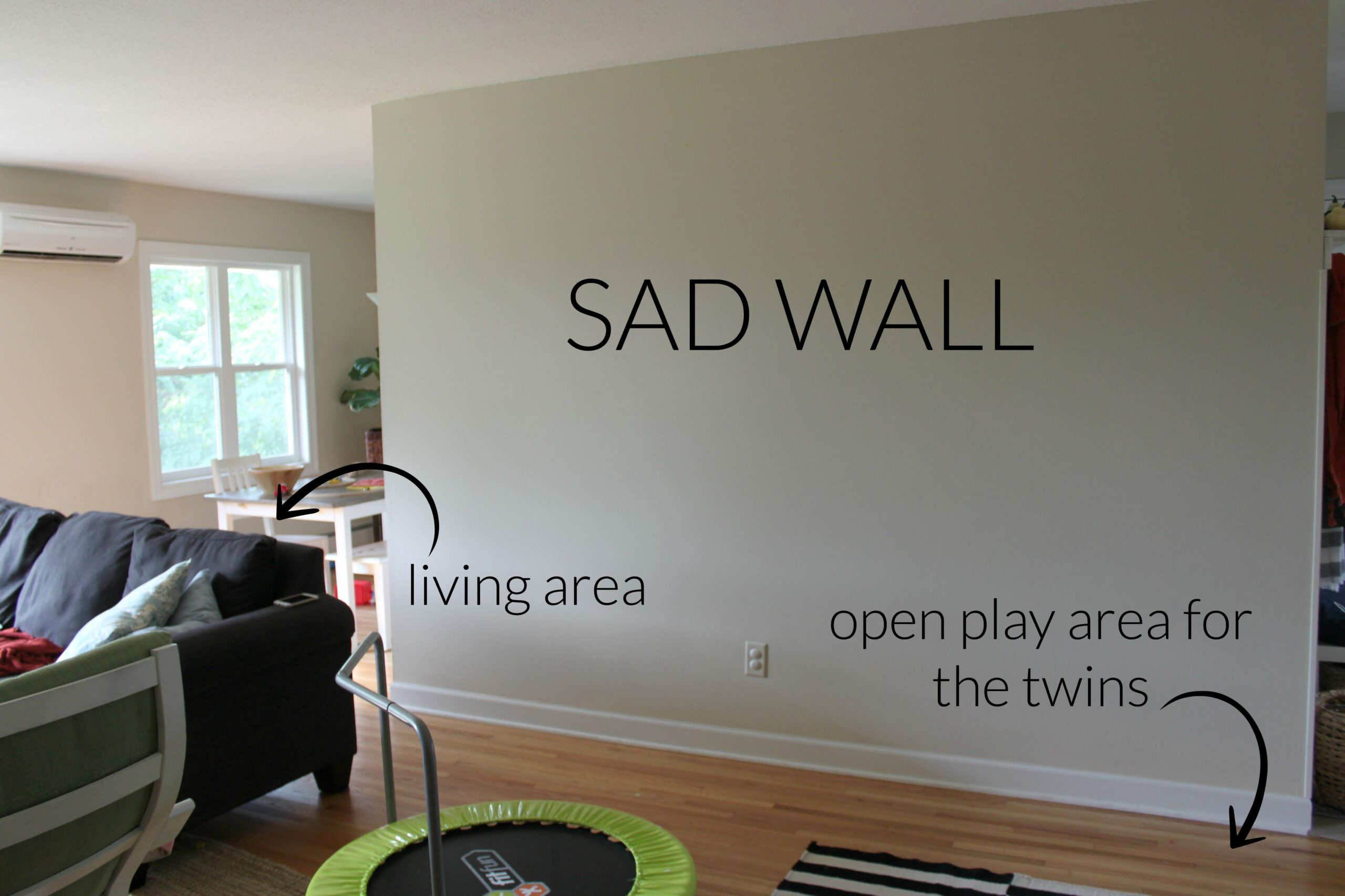 How To Decorate A Large Blank Wall Creating A No Commitment Gallery Wall The Crazy Craft Lady