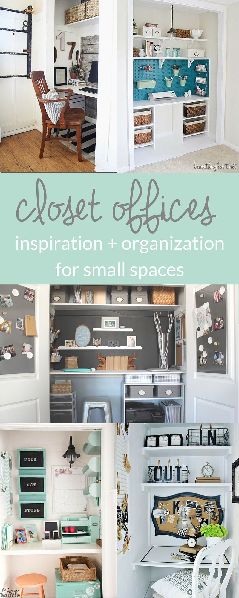 Small Space Organization Inspiring Closet Offices The Crazy Craft Lady