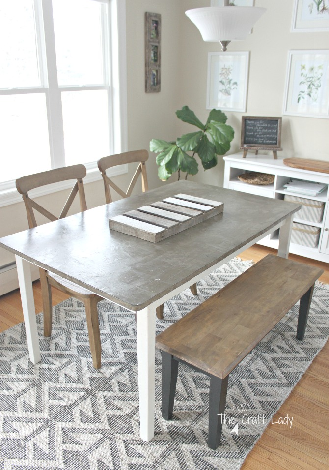 DIY Concrete Table Top - 2 Years Later - The Crazy Craft Lady
