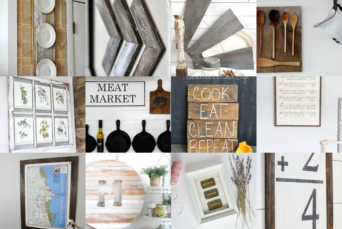 Diy Farmhouse Wall Decor Inspiration The Crazy Craft Lady