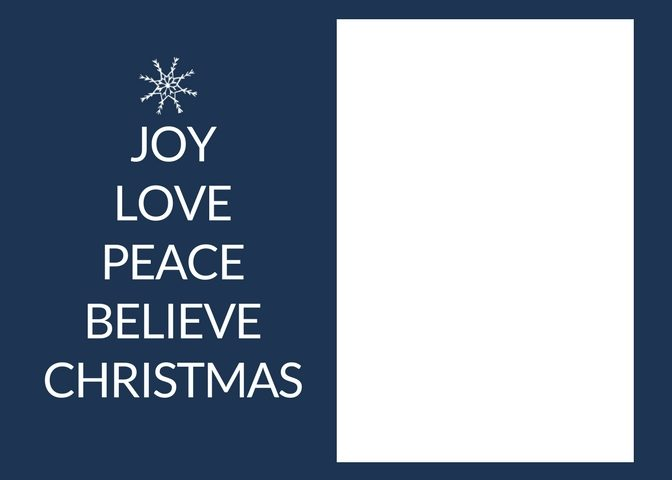 Free Christmas Card Templates - The Crazy Craft Lady