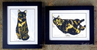 My Tortie Girls in a slightly smaller frame.