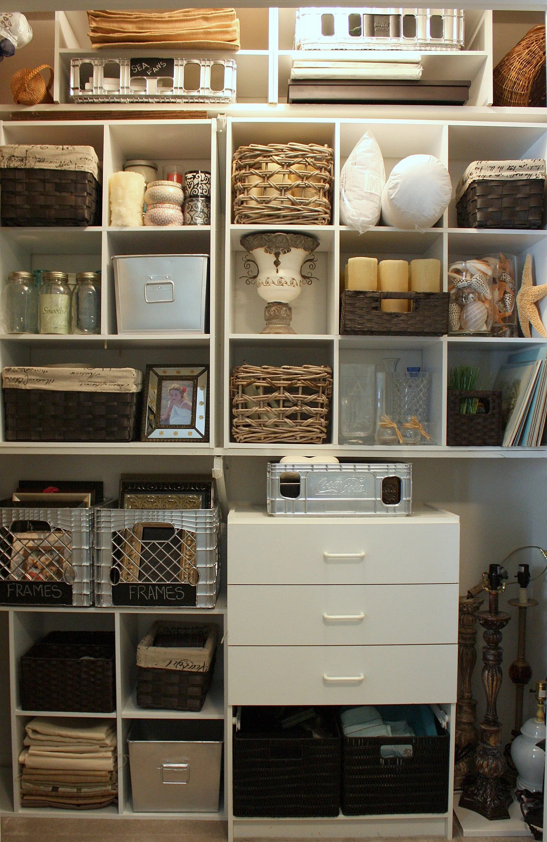Diy Organization Ideas For Closets Organizing A Junk Closet With Cube Storage Units