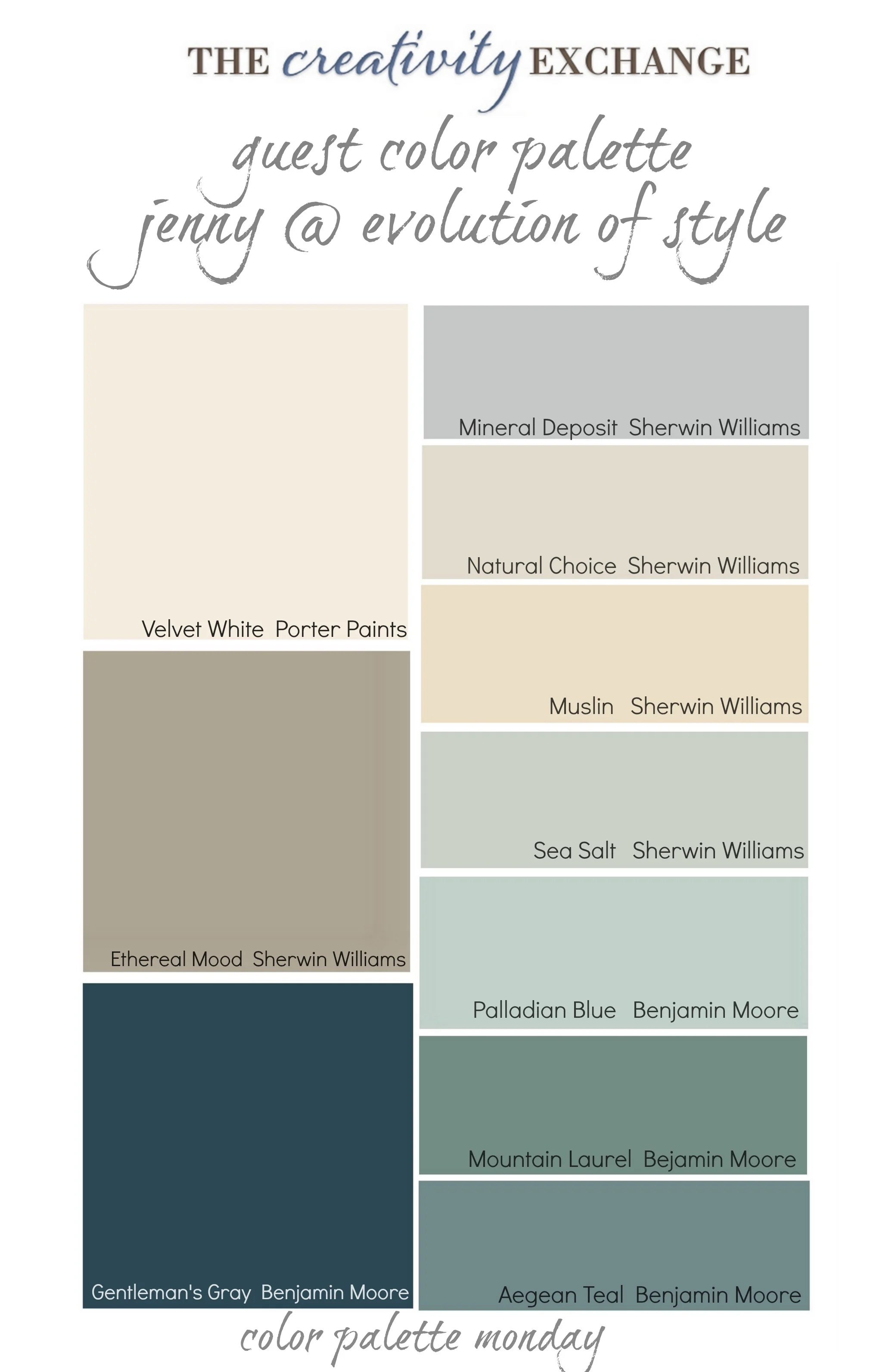 Most Popular Blue Gray Paint Colors Readers 39 Favorite Paint Colors Color Palette Monday