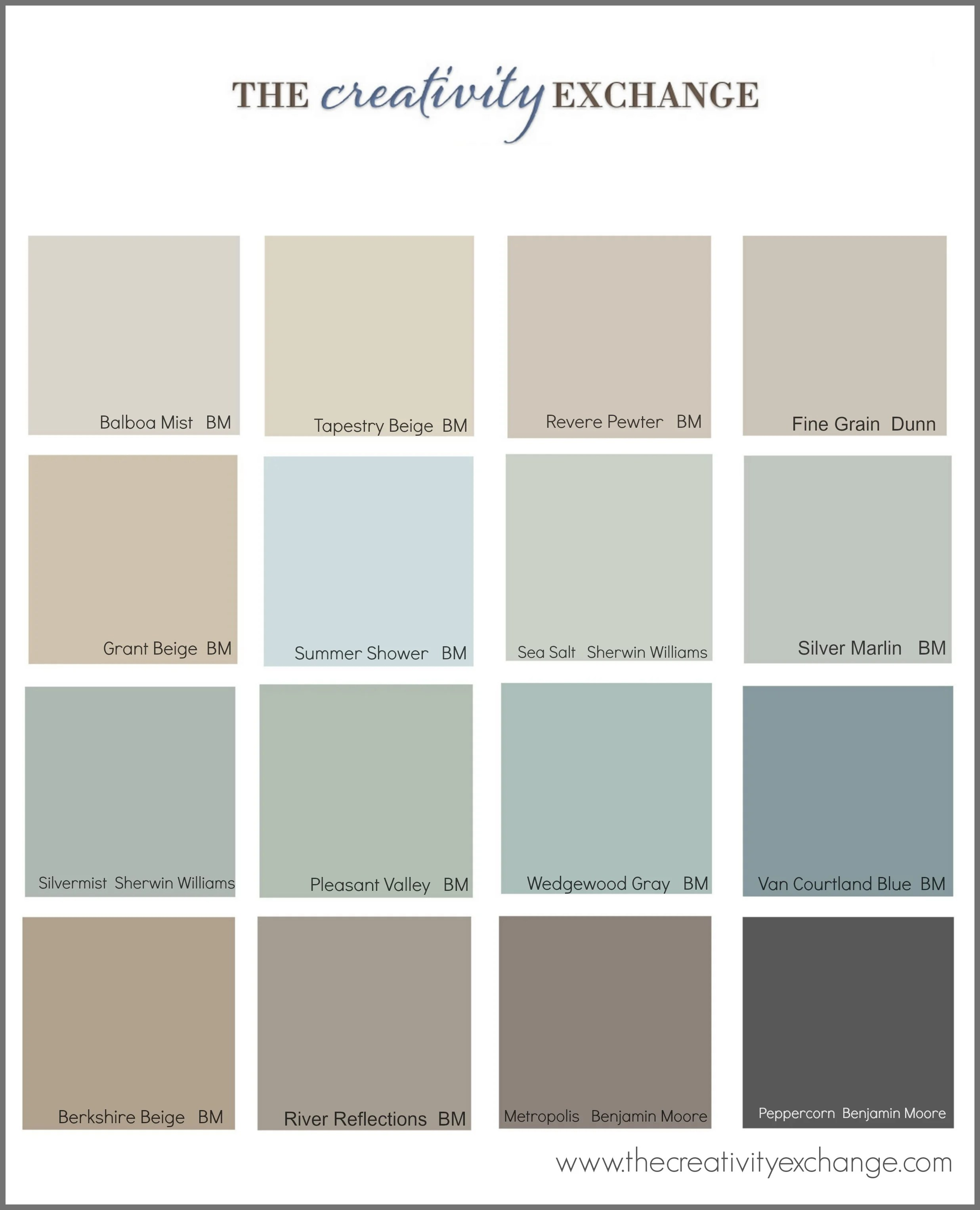 Most Popular Blue Gray Paint Colors The Most Popular Paint Colors On Pinterest