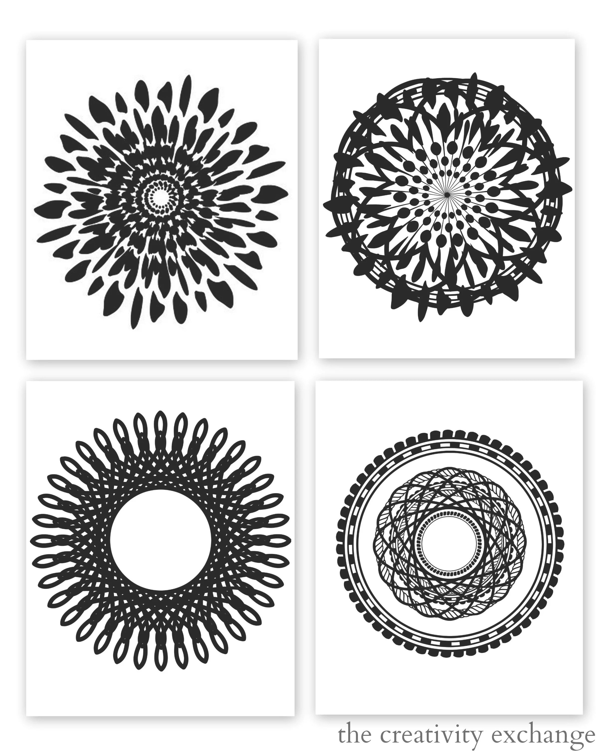 Art Print Black And White Free Printable Collection Of Modern Black And White Prints