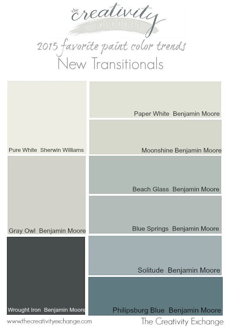 2016 Paint Trends 2015 Favorite Paint Color Trends The New Transitionals