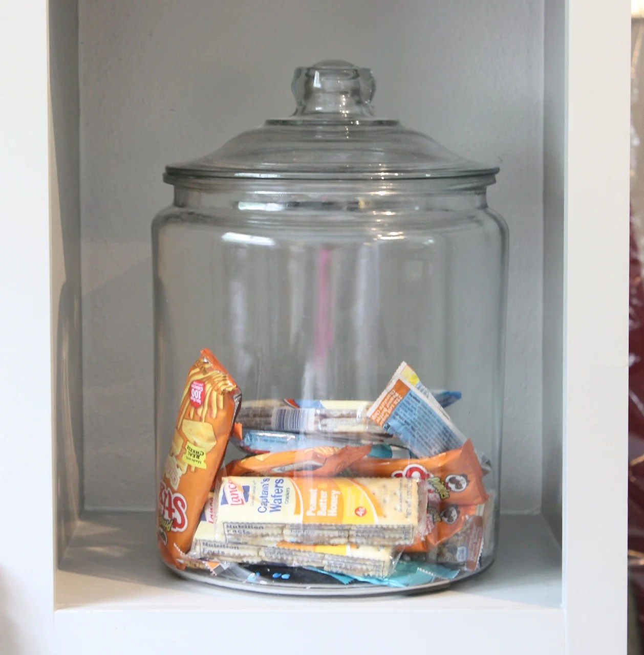 Huge Glass Cookie Jar Quick Tricks Using Candy And Cookie Jars For Organizing