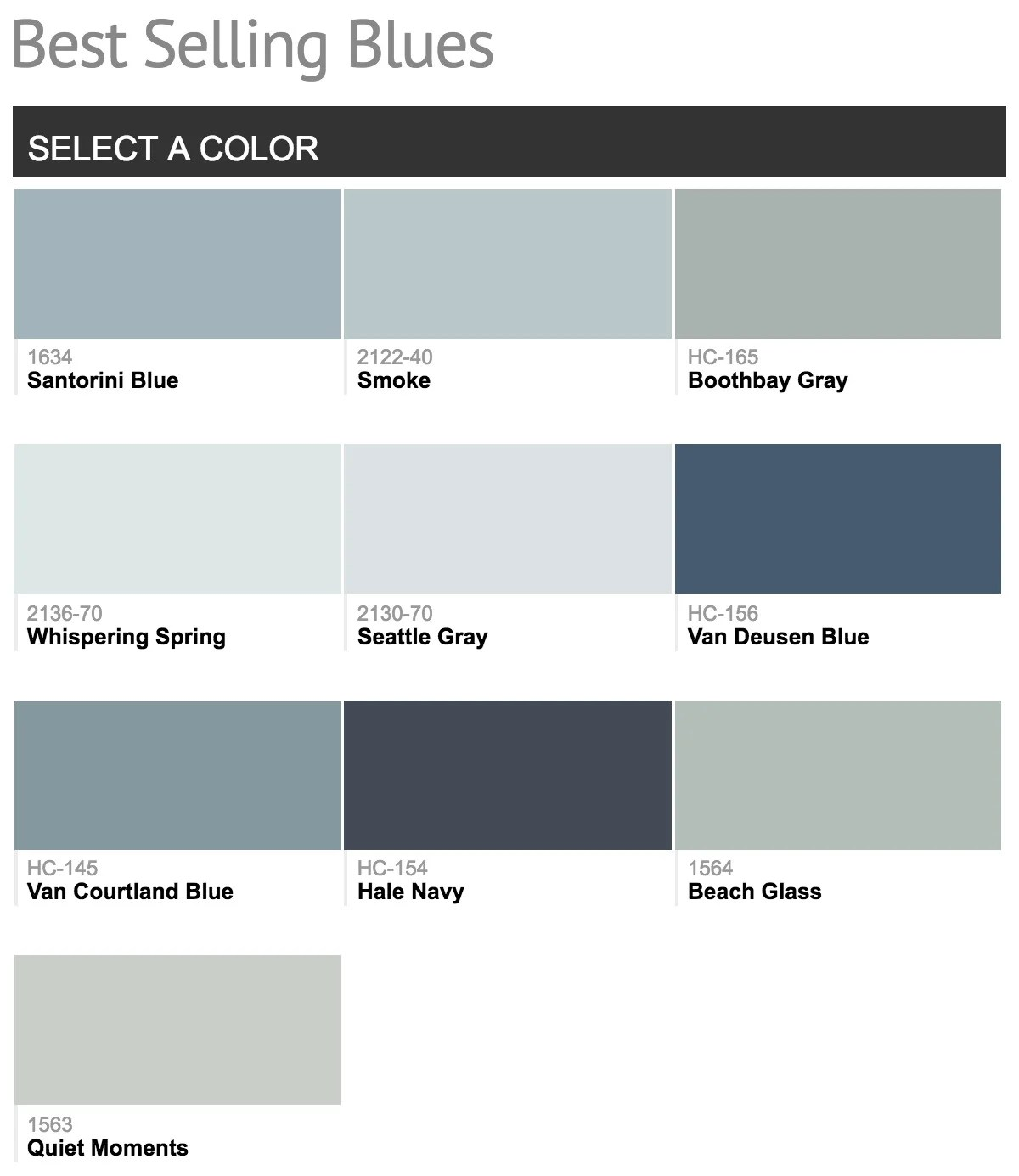 Most Popular Blue Gray Paint Colors Best Selling Benjamin Moore Paint Colors