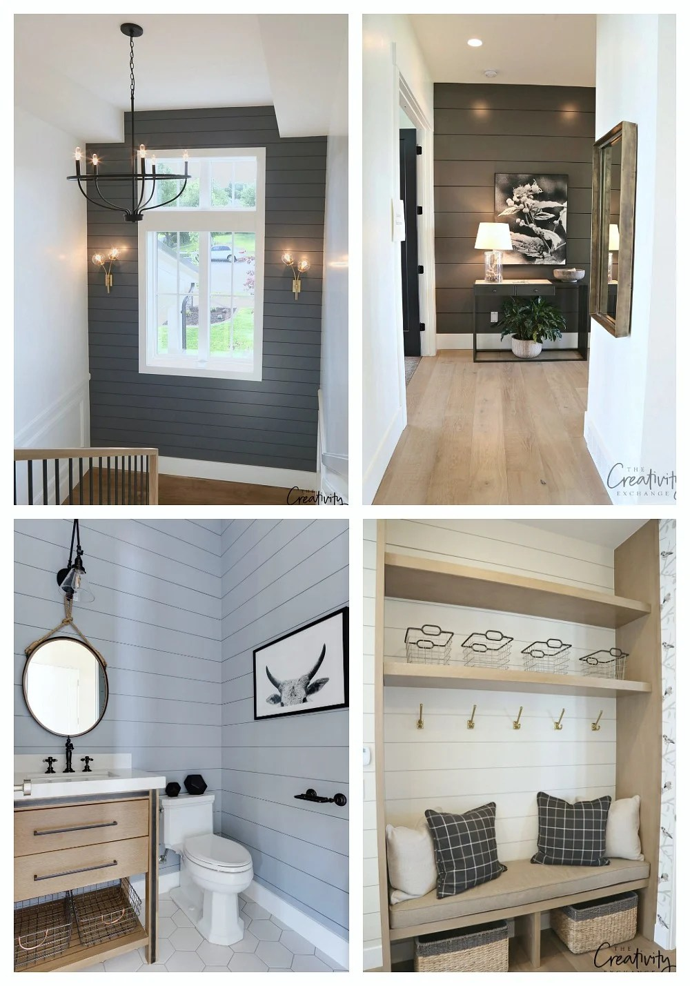 Accent Walls Paint Ideas Painted Shiplap Accent Walls In Rich Colors