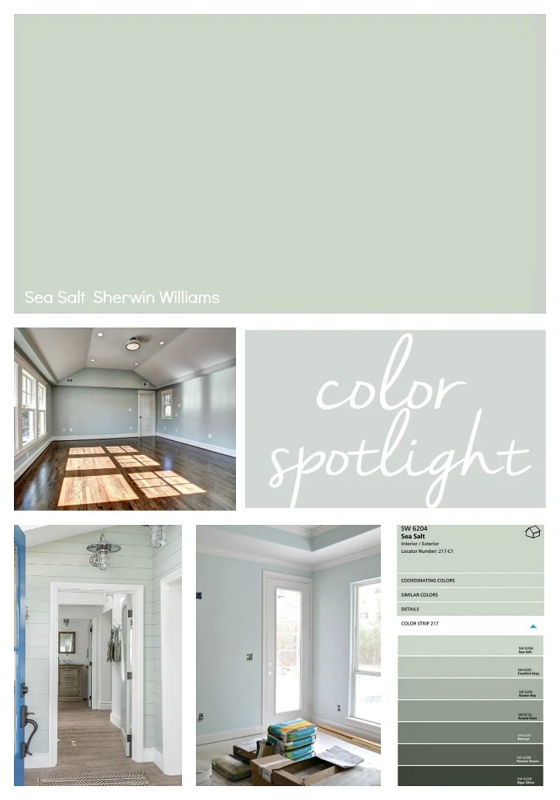 Sherwin-williams Countertop Paint Sherwin Williams Sea Salt Color Spotlight
