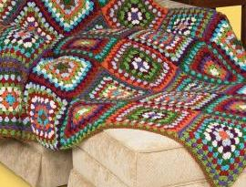 Crochet Granny Afghan Design