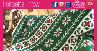Poinsettia Christmas Throw