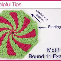 Can 1 Peppermint Motif be a Huge Baby Afghan?