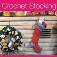 Quick Crochet Christmas Stocking + Video Tutorial