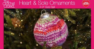 Crochet Christmas Ball Ornament