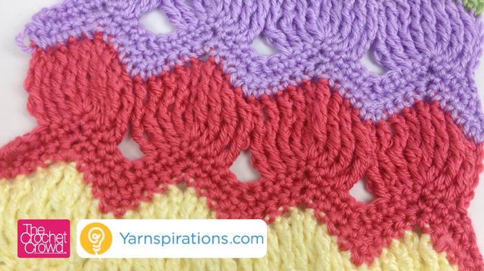 Crochet Crowd : Vintage Fan Ripple Stitch Pattern + Video Tutorial - The Crochet Crowd