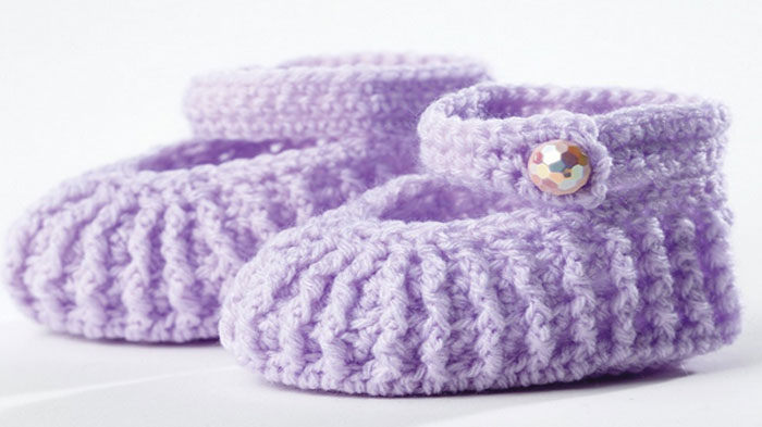 Free Crochet Patterns For Baby Booties Mary Janes : Baby Crochet Projects