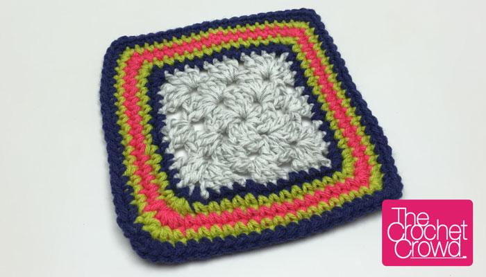 Single Crochet Granny Square Border Pattern