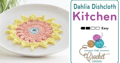 Crochet Dahlia Dishcloth
